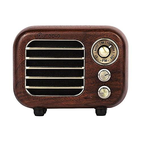 Maintainhealth Vintage Radio Portátil Bluetooth Altavoz, Vintage Radio Bluetooth Altavoz Retro, Pequeña Radio Retro Radios con Estilo Clásico Antiguo, Mejora De Graves Volumen Alto