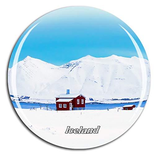 Weekino Casa de Islandia Imán de Nevera 3D de Cristal de la Ciudad de Viaje Recuerdo Colección de Regalo Fuerte Etiqueta Engomada refrigerador