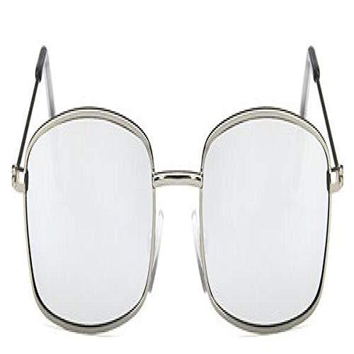 Moda Gafas De Sol Nuevas Gafas De Sol Cuadradas Mujeres Retro Hombres Diseñador De La Marca Gafas De Sol Vintage Negro Espejo Gafas De Montura De Metal Plata