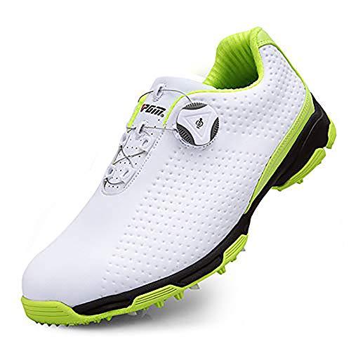Aupast Zapatos De Golf De Los Hombres,Zapatos de Golf Transpirables Antideslizantes con Sistema de Encaje Boa No Deslizante A Pie Zapatillas De Deporte 39-44EU