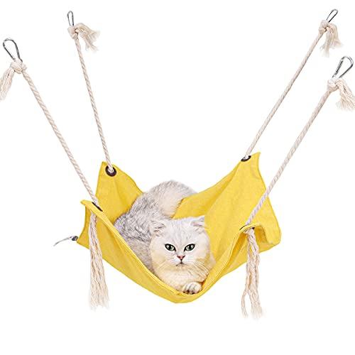 TANGN Hamaca para Gato Transpirable para Jaula, Hamacas Colgantes Duradera Cama Hamaca para Gato, Cómoda no Bochornoso Cama Colgante para Gato/Gatito/Conejo Cat Hammock Ahorrando Espacio hasta