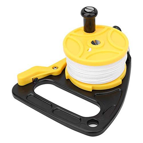 Pinsofy Unterwasserspulenrolle, 46-m-Tauchspulenrolle aus Nylongewebe, zum Rafting Tauchen Tauchen Zubehör Wracktauchzelt-Befestigungswerkzeug(Yellow (46 Meters))