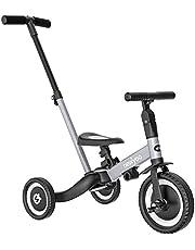 NEWYOO 5イン1 幼児用三輪車 親ハンドル付き 1,2,3歳の男の子と女の子 子供用プッシュトライク 幼児用バイク 取り外し可能なペダル付き 調節可能なシートとハンドル付き