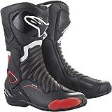 Alpinestars Smx-6 V2 - Botas de motociclista, talla 43, color negro y rojo