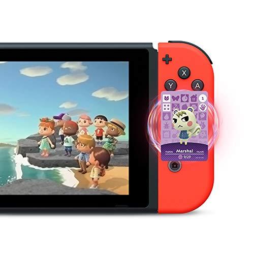 TPLGO 24 Stk. ACNH NFC Tag Minispiel Seltener Charakter Dorfbewohner Karten für Animal Crossing New Horizons, Karten Serie 1-4 für Switch / Switch Lite / Wii U mit Aufbewahrungskoffer