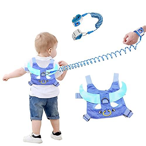 YZNlife Anti-verloren Gürtel, 2,5 m Baby Leine Laufleine Baby, Sicherheitsgurte Kinder Sicherheitsleine Kleinkind, Leine Handgelenk, Reise Sicherheitsgürtel, Blau …