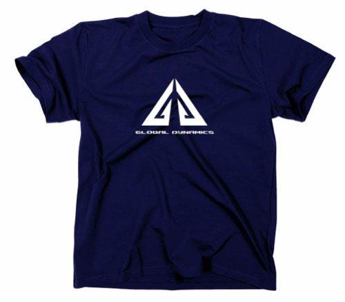 Eureka T-Shirt, Global Dynamics Logo, TV-Serie, Fanshirt marineblau L