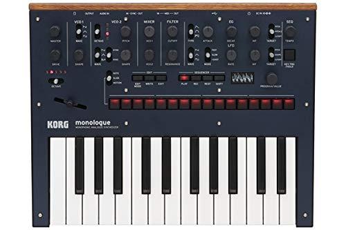 Korg Monologue Monophonic Analog Synthesizer with Presets-Blue (MONOLOGUEBL)