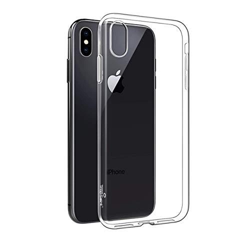 Trop Saint - Carcasa de Silicona para iPhone XS MAX - Carcasa de protección Suave antigolpes Transparente