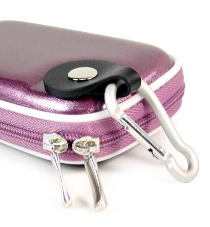 - Metallic Purple Color JJAK1 Mini Hard Shell Carrying Case for Canon Elph PowerShot 100HS 4924B001, 300HS 5095B001, A2200 4942B001, A3300 IS 5038B001, SD1300 IS 4214B001, SD1400 IS 4180B001, SD3500 IS 4192B001, SD4000 IS 4250B001, SD4500 IS 4612B001 10.0, 12.1, 14.1, 16.0 MP Digital Camera SD IS HS (+ 1pc Name TAG) -- Best Seller on Amazon!