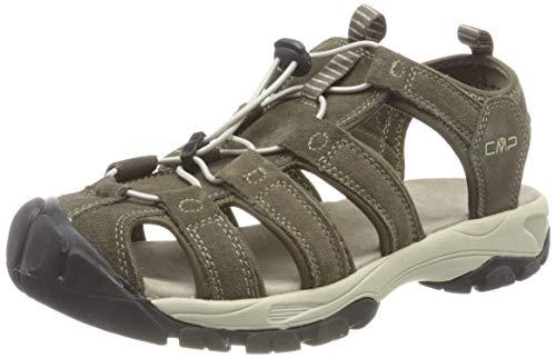 CMP – F.lli Campagnolo Sahiph Leather Hiking Sandal, Arrampicata Uomo, Braun Wood P961, 46 EU