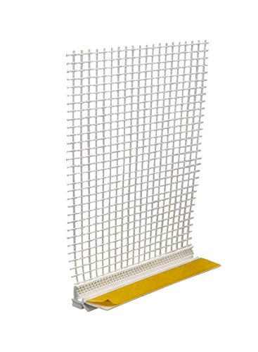 10 x Anputzleiste mit Gewebe und Lippe 6 mm x 2,6 m = 26 m Putzleiste Fensterleiste Verputzleiste Fensterprofil Außenputz Innenputz