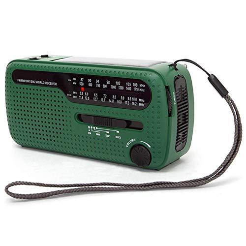 Gaoominy De13 Tragbares Fm Am Funkger?t Solar Not Radio Welt Empf?nger Hand Kurbel Not Radio Für Den Au?enbereich Tragbares Solar Ladeger?t