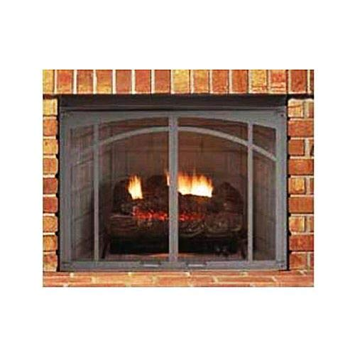 Find Discount Superior ASD3628-TI Textured Iron Arched Screen Door for 36'' Fireplace