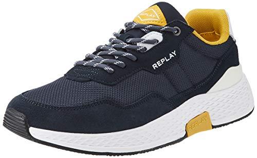 Replay Hybrid-Classic Check, Zapatillas Hombre, 2910 Navy White OCRA, 43 EU