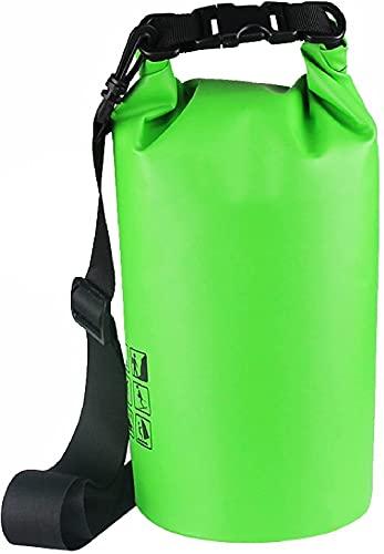 XJYDS Paquete de Rafting, con Correa de Hombro Ajustable, Bolsa de Deriva para Kayak, navegación, Surf, Rafting, Pesca en Hielo, natación, Bolsa Flotante, gris-10L (Color : Green, Size : 15L)