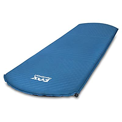 Fox Outfitters Comfort Series Self Inflating Camp Pad - Perfect Foam Sleeping Pads for Camping, Backpacking, Hiking, Hammocks, Tents (Long)