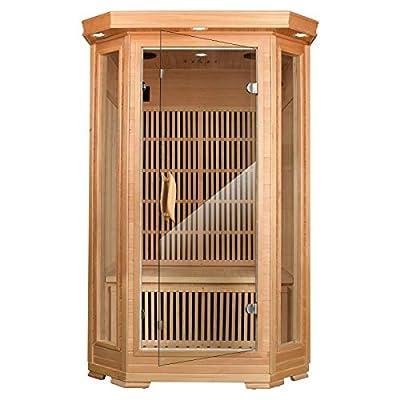 amzzar 2 Person Steam Sauna Infrared Sauna Room Household,Wooden Sweating Infrared Sauna Room