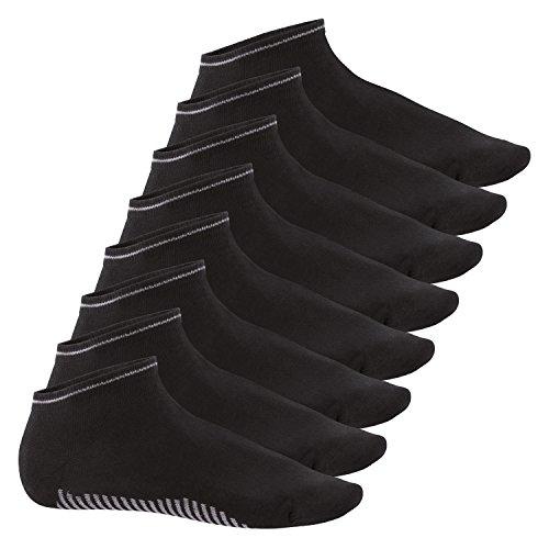 Celodoro Herren Sneaker Socken (8 Paar) - Schwarz 43-46