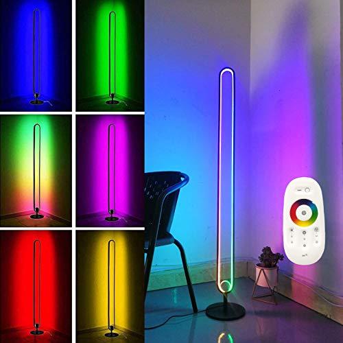 Ydshyth Dimmbare 20w Led Stehlampe Farbwechsel Uplighter Nordic RGB Stehlampen Mit Fernbedienung, Home Minimalism Warme Atmosphäre 140cm