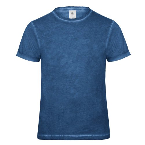 B&C Denim Plug In - T-shirt 100% coton - Homme (2XL) (Bleu)