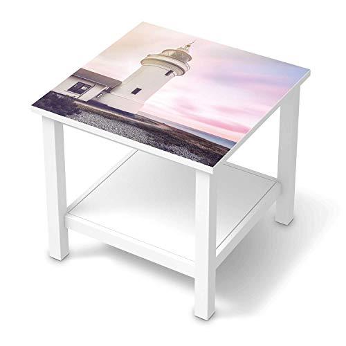 creatisto Möbelfolie selbstklebend passend für IKEA Hemnes Beistelltisch 55x55 cm I Möbeldeko - Möbel-Aufkleber Folie Tattoo I Wohndeko für Esszimmer und Wohnzimmer - Design: Lighthouse