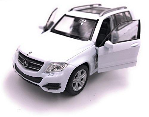 H-Customs Mercedes Benz GLK Modellauto Auto Lizenzprodukt 1:34-1:39 Weiß