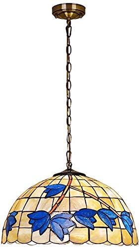 Lámpara decorativa de techo de 12 pulgadas, Coloración Shell Magnolia Flor Madmadammade lámpara colgante para la decoración de la habitación, iluminación para uso en interiores