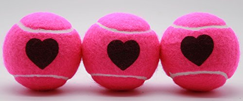 Price's Heart Motif Tennis Balls ITF Standard Made in the UK (1 x 3 Ball Tube)