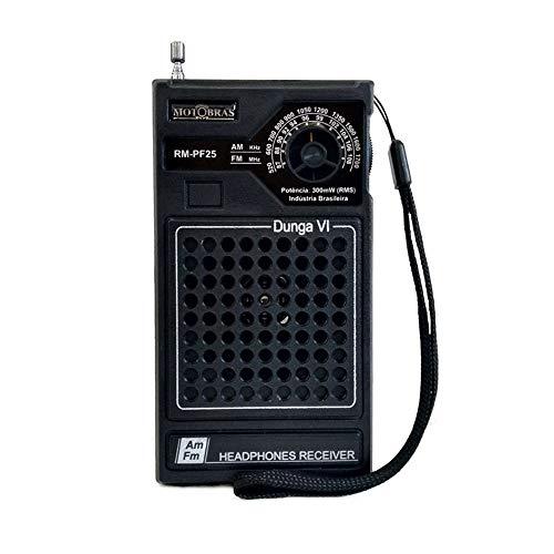 Rádio Portátil AM/FM Dunga Gabinete de Bolso RM PF25 - MotoBras