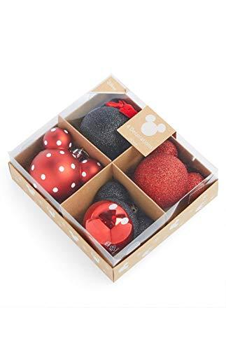 Confezione da 4 palline di Natale con licenza Disney Topolino da appendere