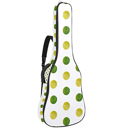 Acoustic Guitar Bag Green Yellow Watercolor Polka Dot Adjustable Shoulder Strap Guitar Case Gig Bag 40 41 42 Inch