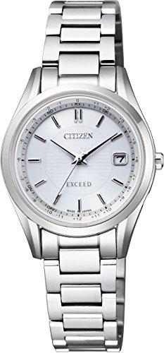 [シチズン] 腕時計 エクシード エコ・ドライブ電波時計 ペア ES9370-54A レディース