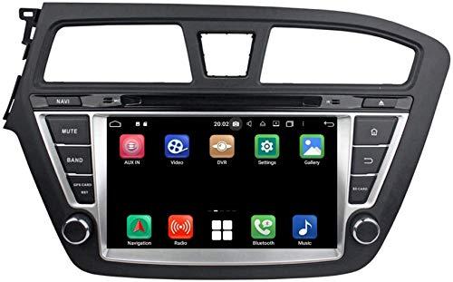 Navegación GPS para coche con sistema operativo Android 10.0 Compatible con Hyundai I20 (2014-2018) LHD, 4GB RAM + 64GB ROM, 8 pulgadas Pantalla táctil Reproductor de DVD Radio Bluetooth Unidad prin