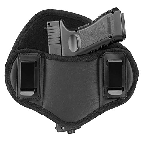 LinkIdea Gun Holsters Concealed Pistol Carry Holster, Universal Relentless Tactical The Defender Leather IWB Holster fits Glock 17 19 23 25 32 38 / Springfield XD Series, Taurus PT111 - Right Hand