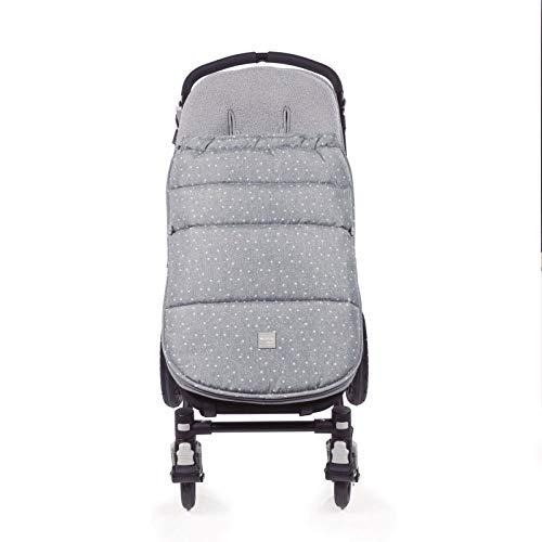 Walking Mum. Saco silla de paseo Dreamer. Funda para silla de paseo. Uso universal y compatible con la mayoría de los coches y portabebés. Color Gris/Estampado de estrellas. Medidas 50 x 3 x 8