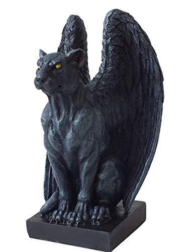 ジャガーガーゴイル ゴシック スタチュー(像) Winged Moon Eyed Jaguar Gargoyle Gothic Statue