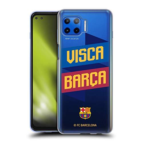Head Case Designs Oficial FC Barcelona Visca Forca Barca Carcasa de Gel de Silicona Compatible con Motorola Moto G 5G Plus