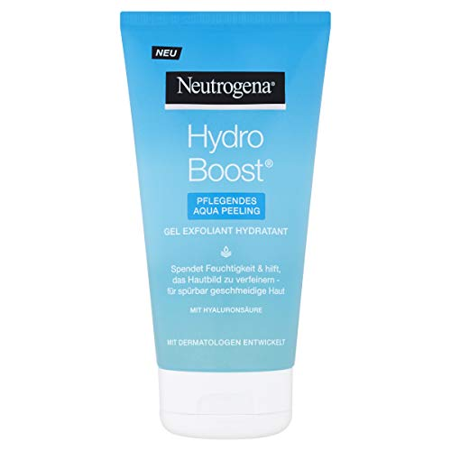 Neutrogena Hydro Boost Pflegendes Aqua Peeling (150ml) / Innovatives Peeling mit weichen, hautglättenden Mikroperlen, die sanft, aber effektiv reinigen und Unreinheiten entfernen.