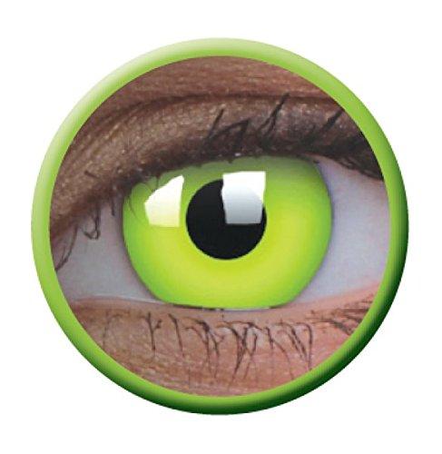 Halloween Kontaktlinse Lustige Linse UV Glow Green Jährliche Einweg 14 mm stärke 0.00 von ColourVUE