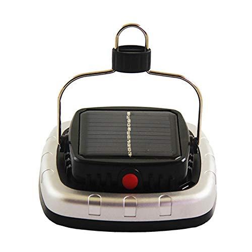Solar Camping Laternen Scheinwerfer, LED Zelt Camping Lampe USB Taschenlampe Wiederaufladbare Batterie Zelt Licht Schwarz Outdoor