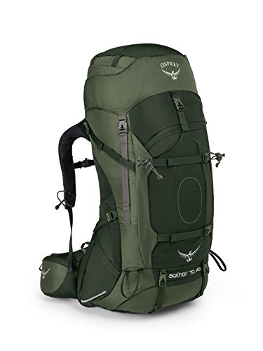 Osprey Packs Aether Ag 70 Backpacking Pack, Adriondack Green, Medium