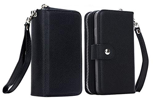 JFLAI Hoesje Case Case voor Galaxy S8, mode multifunctionele ritssluiting map PU/PC telefoon Hoesje Case Case tas voor Samsung S8 scherm grootte 5.8
