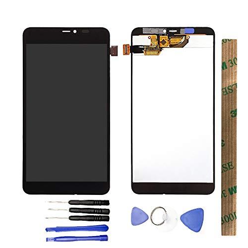 JayTong Schermo Display Completo LCD Digitizer Toccare Schermo Pannello Vetro Assemblea Parti di Ricambio con Strumenti Gratuiti per Microsoft Nokia Lumia 640xl 640 XL Nero