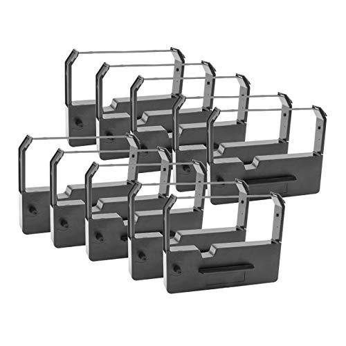 vhbw 10x Nastro Inchiostrato di Nylon per Stampante ad Aghi Epson M-210V, M-211V, M-220, M-222, M-240
