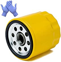 HOODELL 52 050 02 Oil Filter with Gloves, Pro Performance Compatible with Kohler 52 050 02 S, Cub Cadet LTX 1040, Lawn Mower/Tractor Extend Life Series Oil Filter