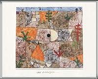 ポスター パウル クレー Sudliche Garten 1994 額装品 アルミ製ハイグレードフレーム(シルバー)