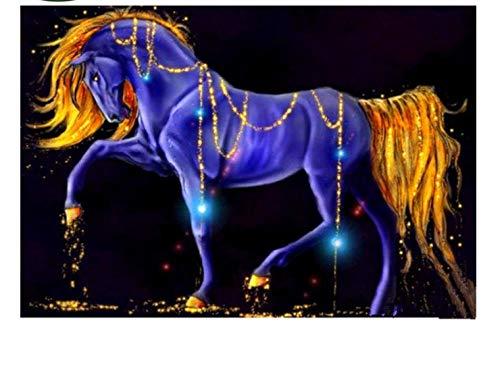 MOL Diamant borduurwerk paars en goud Colro haarkleur diamant Fai-da-Te kruissteek Strass Home & Living Decal 30x40cm