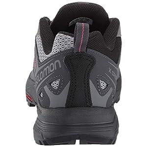 Salomon Women's X Crest Hiking Shoes, Alloy/Ebony/Malaga, 7.5 US