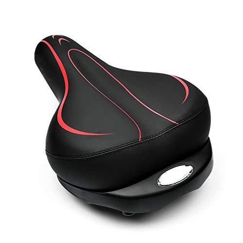 MIAOGOU Fahrradsitz Aufblasbare Fahrradsättel Verdicken Breites Kissen Atmungsaktives MTB-fahrradsitzpolster Stoßfeste, Weiche Schwamm-fahrradsattelteile